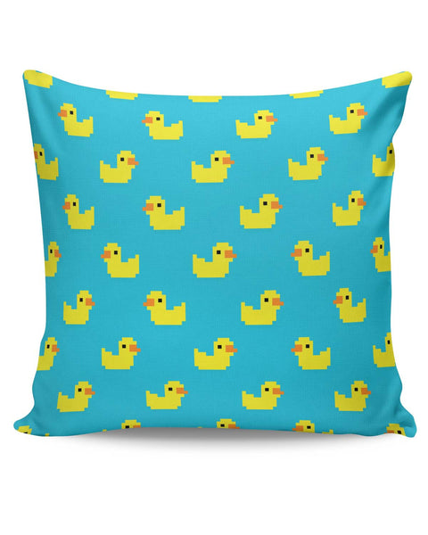 PosterGuy | Cute Ducks Pixel Art Pattern Cushion Cover Online India