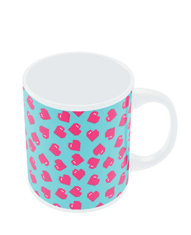 Coffee Mugs Online | Hearts Quirky Pixel Art Pattern Mug Online India
