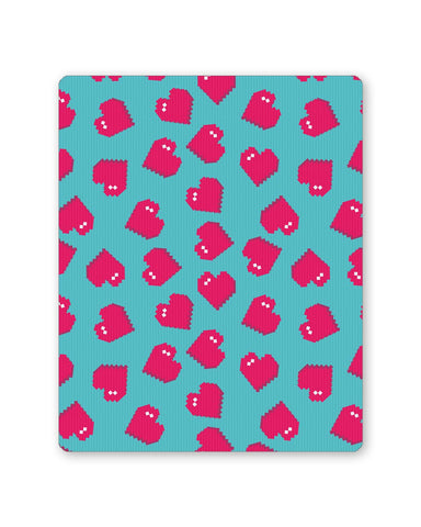 Buy Mousepads Online India | Hearts Quirky Pixel Art Pattern Mouse Pad Online India