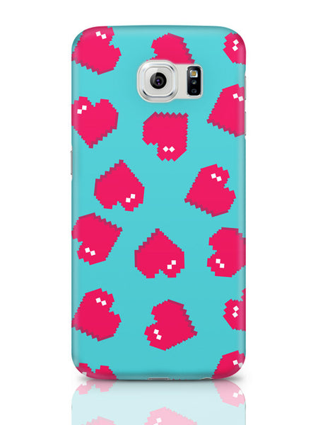 Samsung Galaxy S6 Covers & Cases | Hearts Quirky Pixel Art Pattern Samsung Galaxy S6 Covers & Cases Online India
