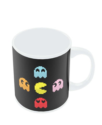 Coffee Mugs Online | Pixel Art Pac man Inspired Characters Mug Online India
