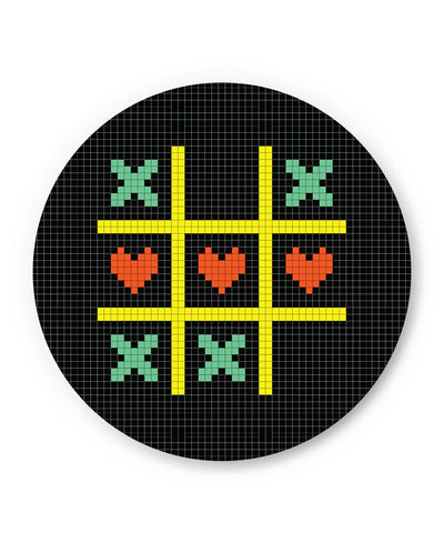 PosterGuy | Tic Tac Toe Pixel Art Fridge Magnet Online India by Mayank Dhawan