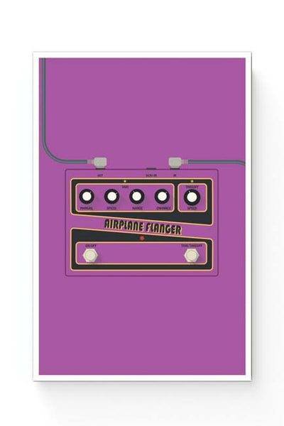 Posters Online | Airplane Flanger Guitar Effects Pedal Poster Online India | Designed by: Mayank Dhawan