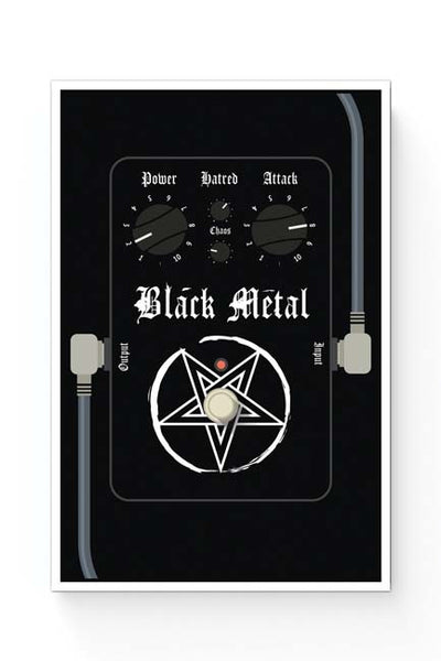 Posters Online | Black Metal Guitar Effects Pedals Poster Online India | Designed by: Mayank Dhawan