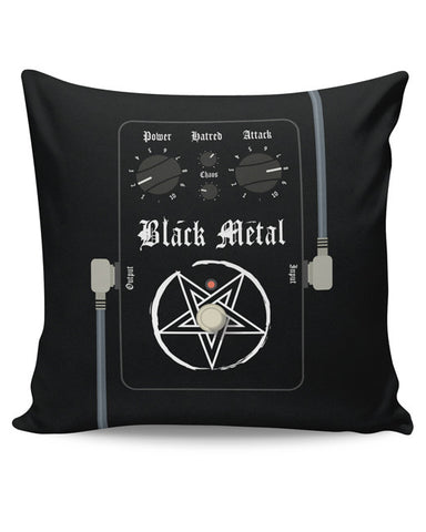 PosterGuy | Black Metal Guitar Effects Pedals Cushion Cover Online India