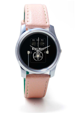 Women Wrist Watch India | Black Metal Guitar Effects Pedals Wrist Watch Online India