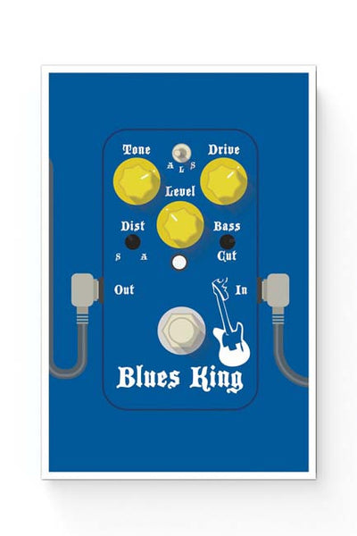 Posters Online | Blues Master King Guitar Effects Pedal Poster Online India | Designed by: Mayank Dhawan