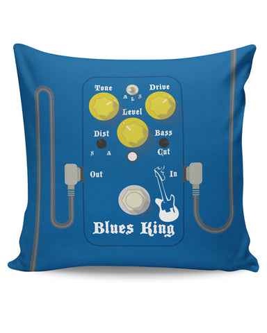 PosterGuy | Blues Master King Guitar Effects Pedal Cushion Cover Online India