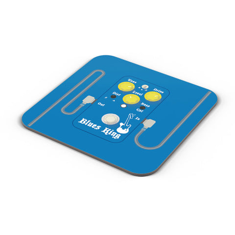 Buy Coasters Online | Blues Master King Guitar Effects Pedal Coaster Online India | PosterGuy.in