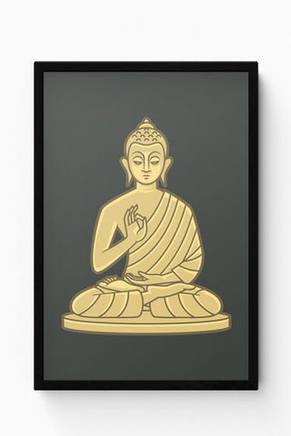 Framed Posters Online India | Lord Buddha Meditating Laminated Framed Poster Online India