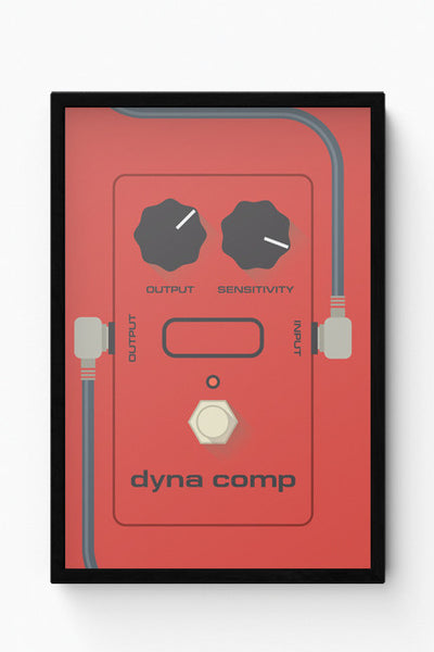 Framed Posters Online India | Dyna Comp Compressor Guitar Effects Pedal Laminated Framed Poster Online India