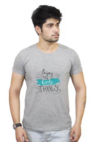 Buy Enjoy Littlethings Motivational Quote T-Shirts Online India | Enjoy Littlethings Motivational Quote T-Shirt | PosterGuy.in