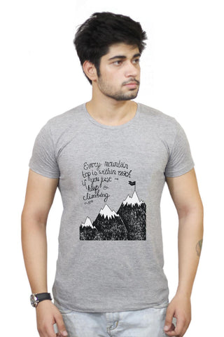 Buy Every Mountain Is Within Reach If You Keep Climbing T-Shirts Online India | Every Mountain Is Within Reach If You Keep Climbing T-Shirt | PosterGuy.in