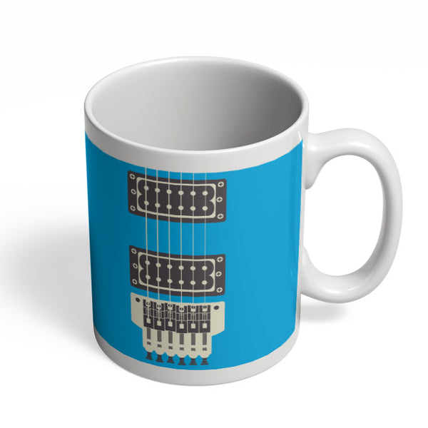 Coffee Mugs Online | Guitar Close-Up View (Blue) Mug Online India
