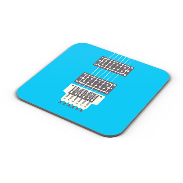 Buy Coasters Online | Guitar Close-Up View (Blue) Coaster Online India | PosterGuy.in