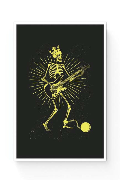 Posters Online | Guitar Slave (Yellow) Poster Online India | Designed by: Mayank Dhawan