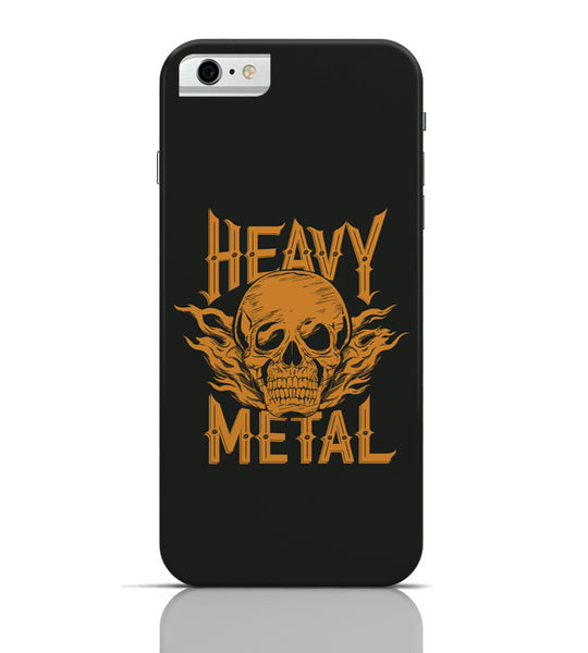 iPhone 6 Covers & Cases | Heavy Metal Skull Illustration (Orange) iPhone 6 Case Online India