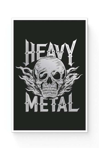 Posters Online | Heavy Metal Skull Illustration (Grey) Poster Online India | Designed by: Mayank Dhawan