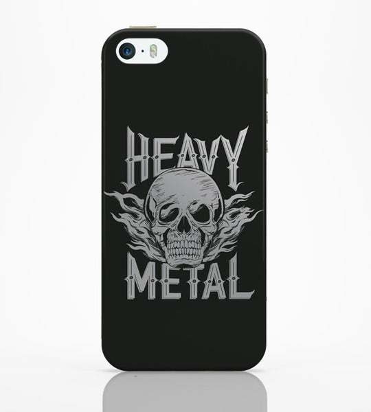 iPhone 5 / 5S Cases & Covers | Heavy Metal Skull Illustration (Grey) iPhone 5 / 5S Case Online India