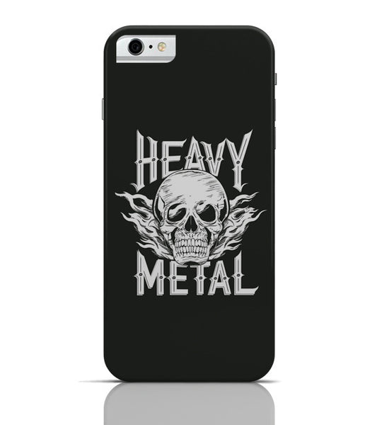 iPhone 6 Covers & Cases | Heavy Metal Skull Illustration (White) iPhone 6 Case Online India