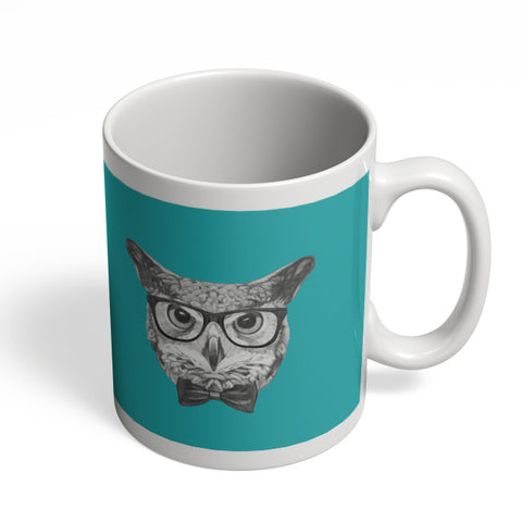 Coffee Mugs Online | Mr Owl (Blue) Illustration Mug Online India
