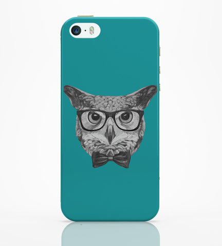 iPhone 5 / 5S Cases & Covers | Mr Owl (Blue) Illustration iPhone 5 / 5S Case Online India