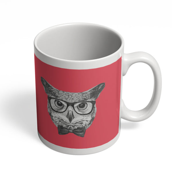 Coffee Mugs Online | Mr Owl (Red) Illustration Mug Online India