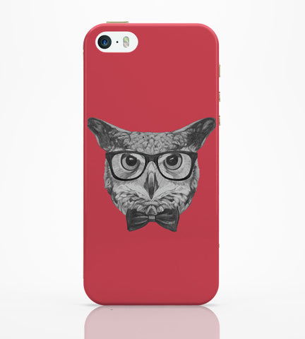 iPhone 5 / 5S Cases & Covers | Mr Owl (Red) Illustration iPhone 5 / 5S Case Online India