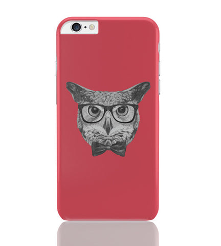 iPhone 6 Plus/iPhone 6S Plus Covers | Mr Owl (Red) Illustration iPhone 6 Plus / 6S Plus Covers Online India