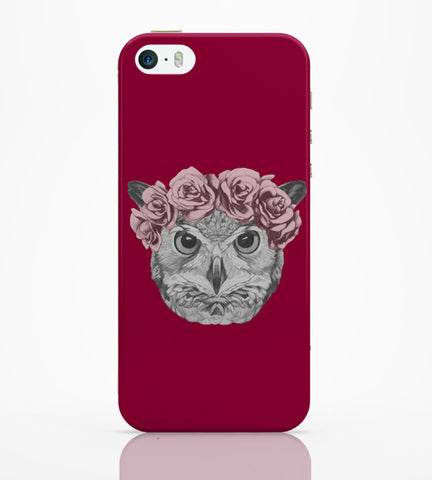 iPhone 5 / 5S Cases & Covers | Ms Owl (Red) Illustration iPhone 5 / 5S Case Online India