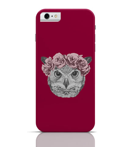 iPhone 6 Covers & Cases | Ms Owl (Red) Illustration iPhone 6 Case Online India