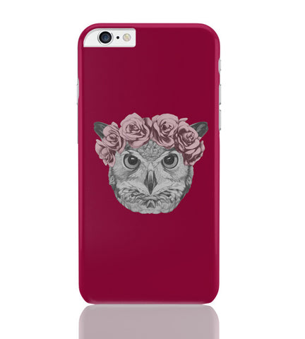 iPhone 6 Plus/iPhone 6S Plus Covers | Ms Owl (Red) Illustration iPhone 6 Plus / 6S Plus Covers Online India