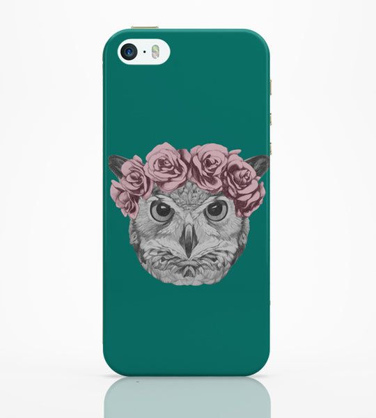 iPhone 5 / 5S Cases & Covers | Ms Owl (Blue) Illustration iPhone 5 / 5S Case Online India
