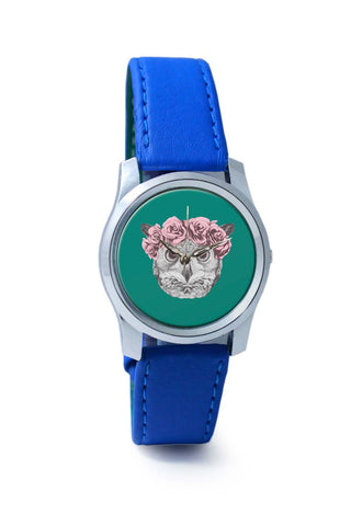 Women Wrist Watch India | Ms Owl (Blue) Illustration Wrist Watch Online India