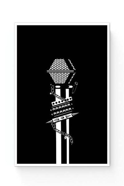 Posters Online | Punk Mic Guitar Effects Pedal Poster Online India | Designed by: Mayank Dhawan