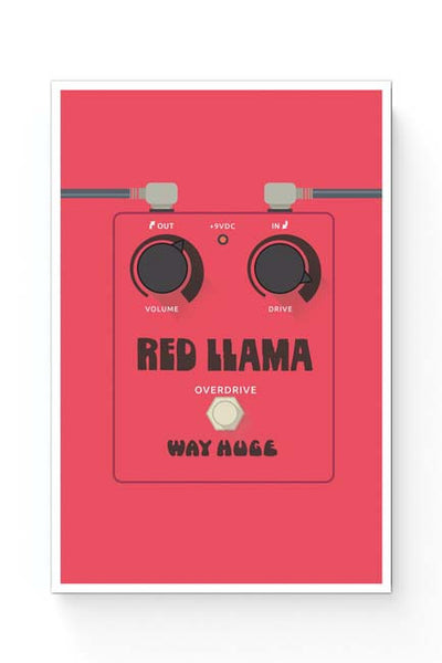 Posters Online | Red Lama Guitar Effects Pedal Poster Online India | Designed by: Mayank Dhawan