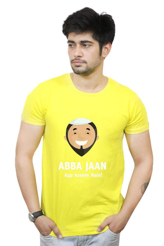 Buy Funny T-Shirts Online India | Abba Jaan | Father's Day T-Shirt Funky, Cool, T-Shirts | PosterGuy.in