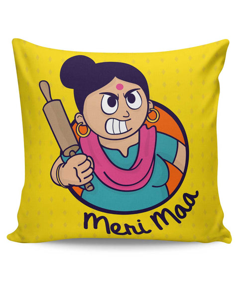 PosterGuy | Meri Maa Angry Mom Quirky Mothers Day Cushion Cover Online India