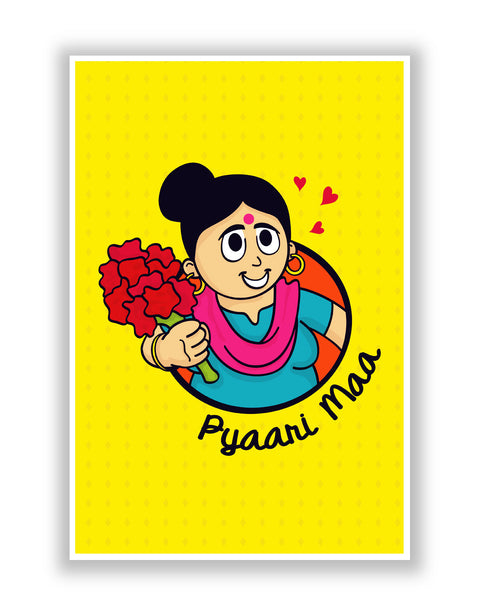 Buy Posters Online | Pyaari Maa Love you Mom Poster | PosterGuy.in