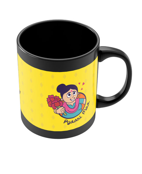 Love you Mom Black Coffee Mug Online India