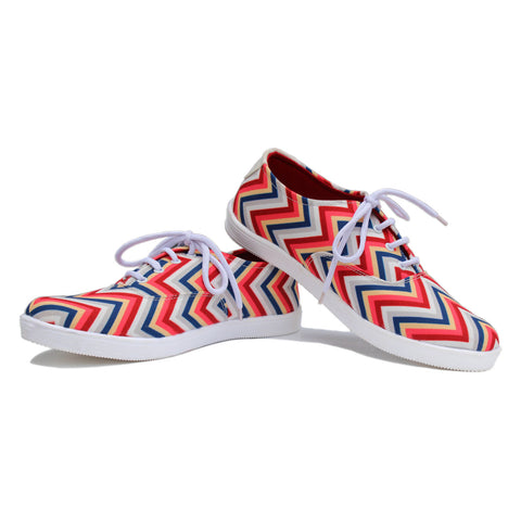 Canvas Shoes India |  Summer Vibe checkered stripes Lace Ups Online India.