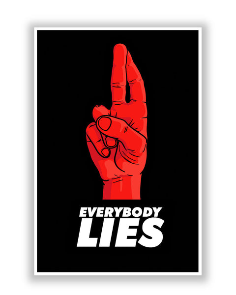 Buy TV Posters Online | Everybody Lies House MD Inspired Poster | PosterGuy.in