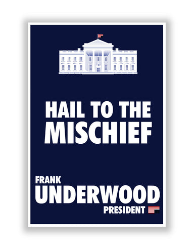 Buy TV Posters Online | White House Frank Underwood House Of Cards Poster | PosterGuy.in