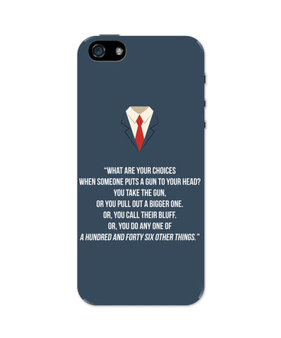 Suits Harvey Spector Quote iPhone 5 / 5S Case
