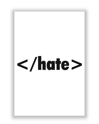 Buy Quirky Posters Online | HTML Hate Code Poster | PosterGuy.in