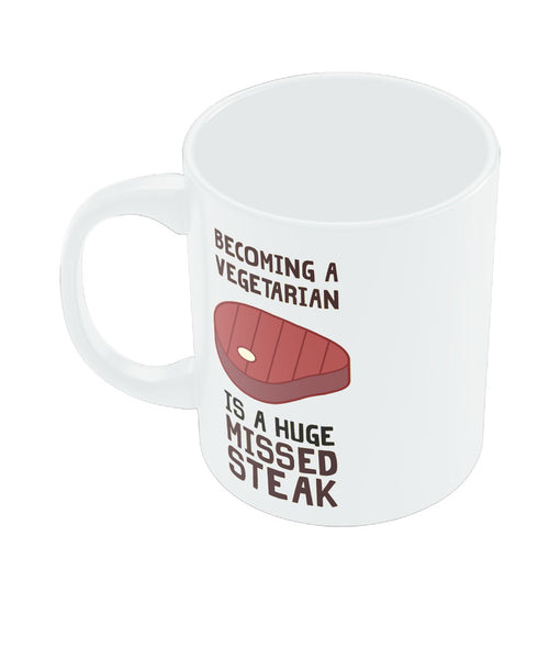 Becoming a Vegetarian Funny Coffee Mug Online India