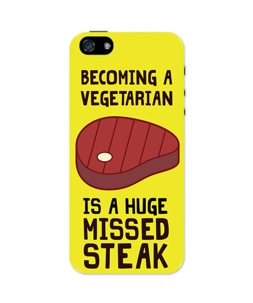 Becoming a Vegetarian Funny iPhone 5 / 5S Case