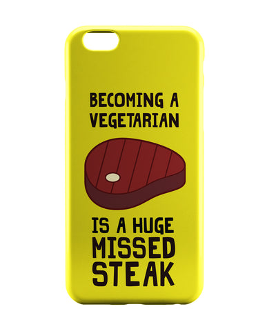 iPhone 6 Case & iPhone 6S Case | Becoming a Vegetarian Funny iPhone 6 | iPhone 6S Case Online India | PosterGuy