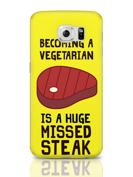 Samsung Galaxy S6 Covers & Cases | Becoming A Vegetarian Funny Samsung Galaxy S6 Covers & Cases Online India