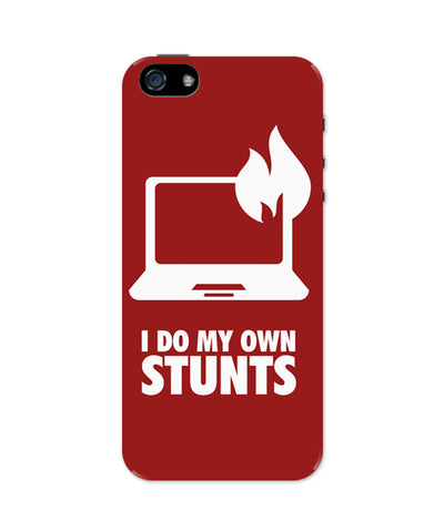 I Do My Own Stunts Laptop iPhone 5 / 5S Case